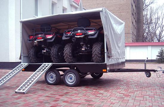 Прицеп для транспортировки техники