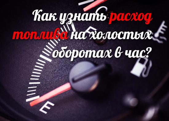 Какой расход топлива на холостых оборотах в час? Что влияет на расход топлива на холостом ходу?